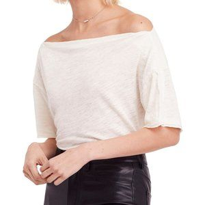 Free People Off the Shoulder Bateau Neck Tee/Top